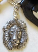 Lions Head and Mane Pewter Key Ring Fob
